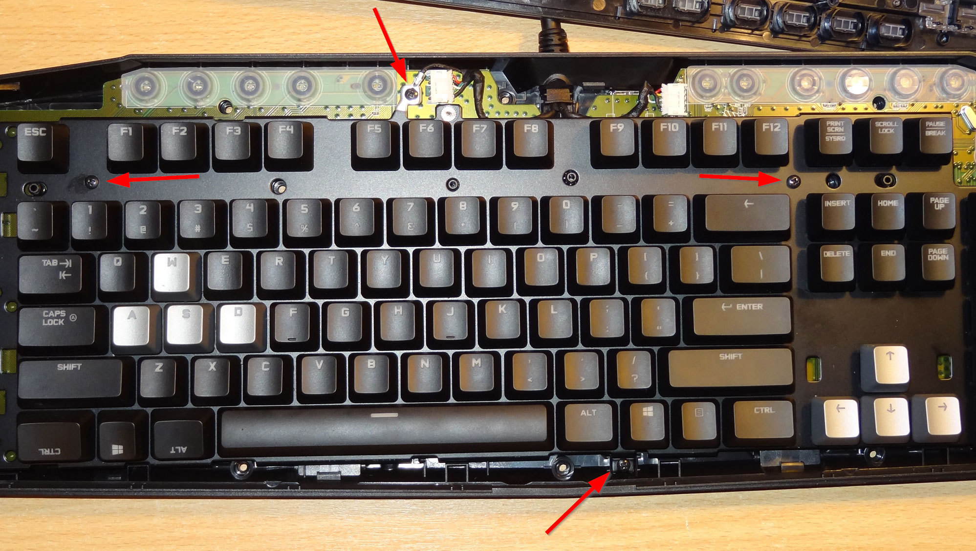Logitech G710+ disassembly and flaky key repair | Roman's